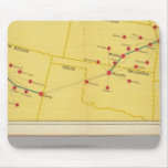 Air Route from Los Angeles to Columbus Mousepad