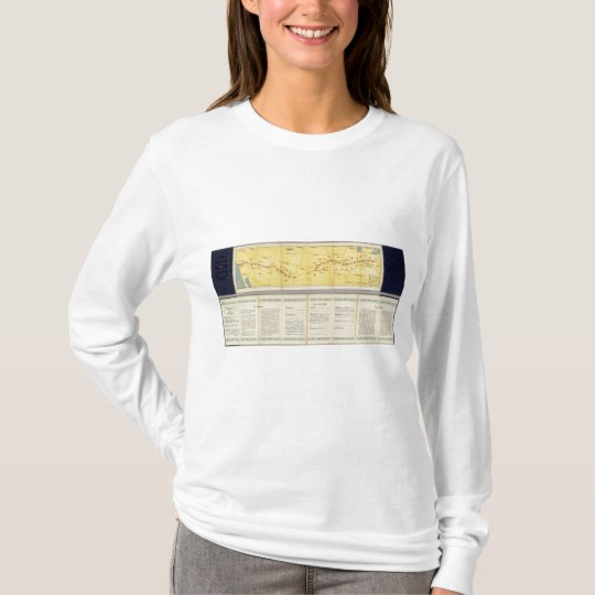 Air Route from Los Angeles to Columbus T-Shirt