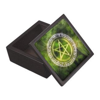 Air Rune Circle Pagan Pentacle Art Keepsake Box