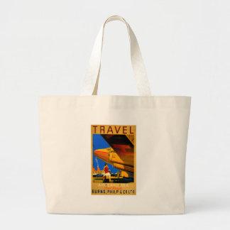 Air, Sea and Land Travel Canvas Shopper Tote Bags