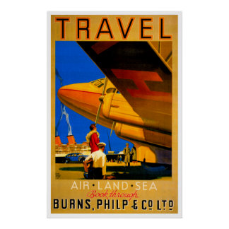Air, Sea & Land Travel Poster
