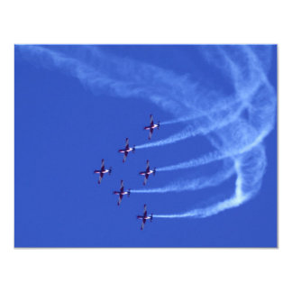 Air Show Roulettes 4.25x5.5 Paper Invitation Card