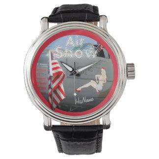 Air Show Watch! American Classic! Add Name! Wristwatch
