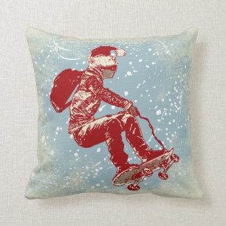 Air Skateborder Christmas Pillow