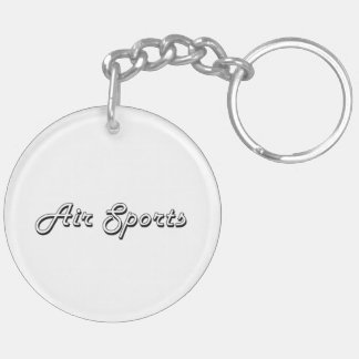 Air Sports Classic Retro Design Double-Sided Round Acrylic Keychain