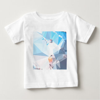 Air Superiority Blue Abstract Low Polygon Backgrou Baby T-Shirt