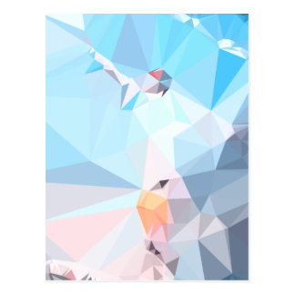 Air Superiority Blue Abstract Low Polygon Backgrou Postcard