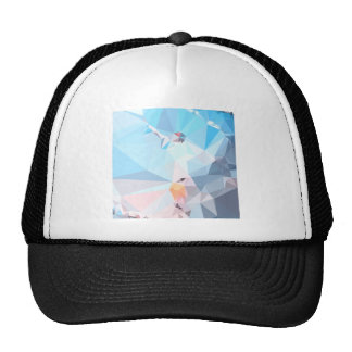 Air Superiority Blue Abstract Low Polygon Backgrou Trucker Hat