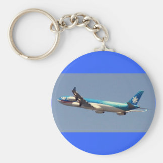 Air Tahiti Nui Depart Basic Round Button Keychain