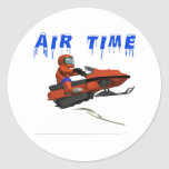 Air Time Round Stickers