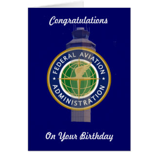 Air Traffic Control Birthday Card