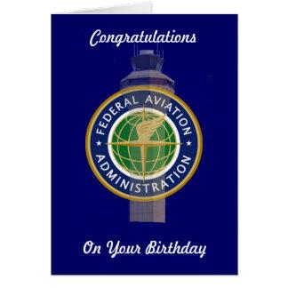 Air Traffic Control Birthday Card