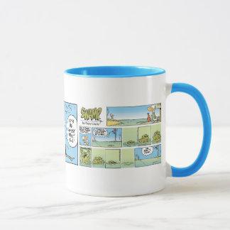 Air Traffic Control Chaos Cartoon Coffee Mug