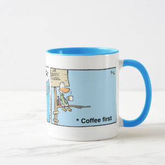 Air Traffic Control Coffee Cartoon Mug