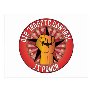 Air Traffic Control Is Power Postcard