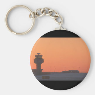 Air traffic control tower_Military Aircraft Keychain