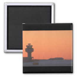 Air traffic control tower_Military Aircraft Magnet