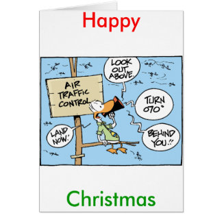 Air Traffic Controller Happy Christmas Card
