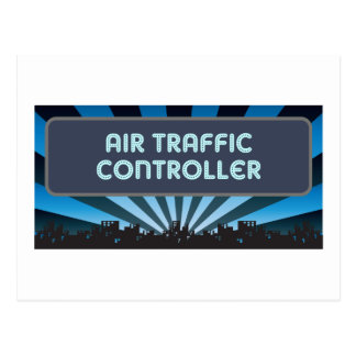 Air Traffic Controller Marquee Postcard