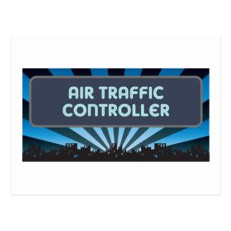 Air Traffic Controller Marquee Postcard