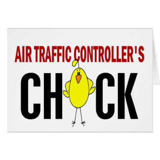 Air Traffic Controller's Chick Greeting Card