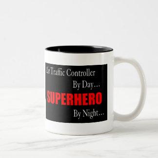 Air Traffic Controller Superhero Coffee Mug