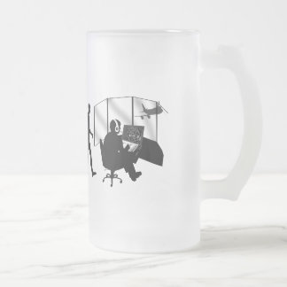 Air traffic controllers gifts tower control frosted glass beer mug