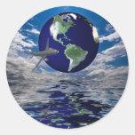 Air Travel Classic Round Sticker