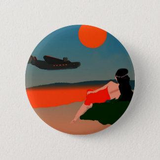 Air Travel Polynesia Pinback Button