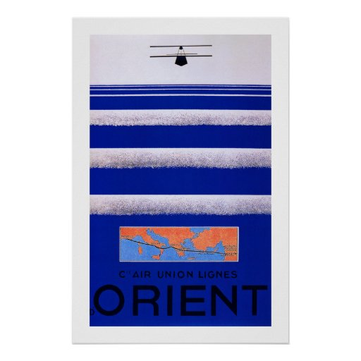 Air Union Orient Poster