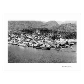 Air View of Ketchikan, Alaska Photograph Postcard