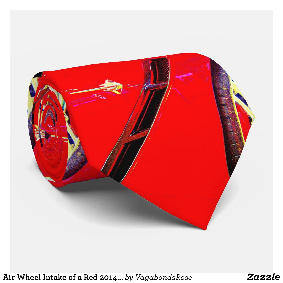 Air Wheel Intake of a Red 2014 Corvette Stingray Neck Tie