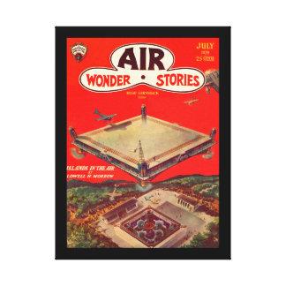 Air Wonder Stories v01 n01 (1929-07.Stellar)_Pulp Canvas Print