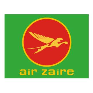 Air Zaire airline Postcard