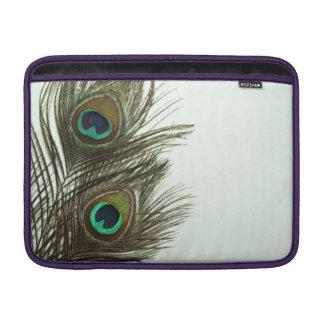 Airbag de Macbook de la pluma del pavo real Funda MacBook