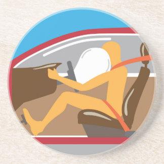 Airbag Seat belt works Sandstone Coaster