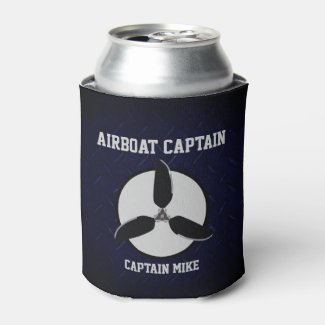 Airboat Captain Add Name Beer Cooler