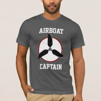 Airboat Fan Blade Swamp Ice Fishing Boat Captain T-Shirt