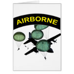 Airborne 2 greeting card
