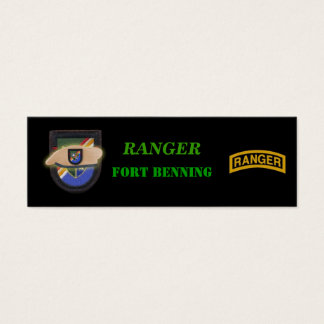 airborne Army ranger veterans vets bookmarkers Mini Business Card
