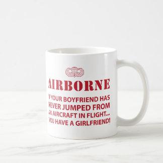 AIRBORNE CLASSIC WHITE COFFEE MUG
