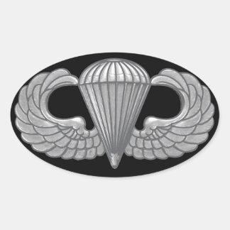 Airborne Crest Oval Sticker