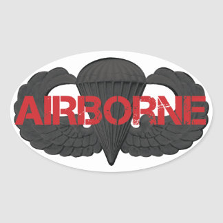 Airborne Crest SUBDUED Oval Sticker