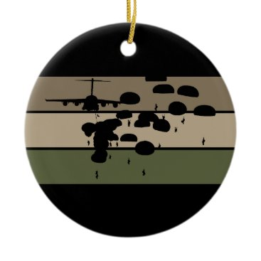 Airborne Jump Ceramic Ornament
