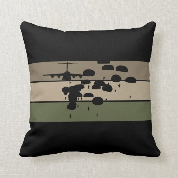 Airborne Jump Throw Pillow