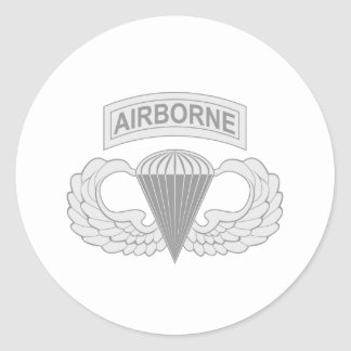 Airborne Jump Wings Classic Round Sticker