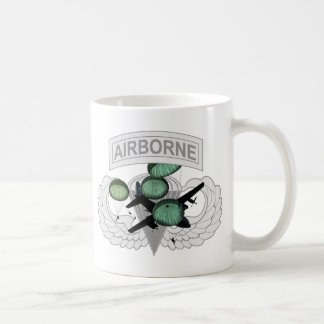Airborne Jump with Wings Classic White Coffee Mug