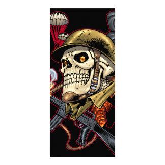 Airborne Marine Corps Parachute Skull by Al Rio Invite
