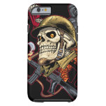 Airborne Marine Corps Parachute Skull by Al Rio iPhone 6 Case