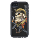 Airborne Military Skeleton Smoking a Cigar Bombers iPhone 5 Covers